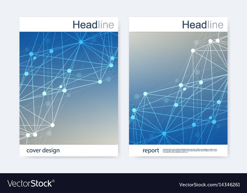 Scientific brochure design template flyer