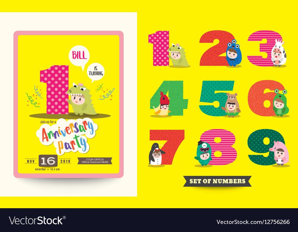 Anniversary kids birthday celebration background