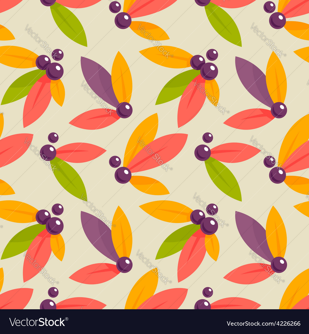 Autumn berries pattern