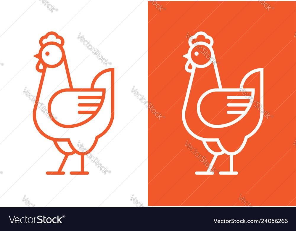 Chicken linear logo