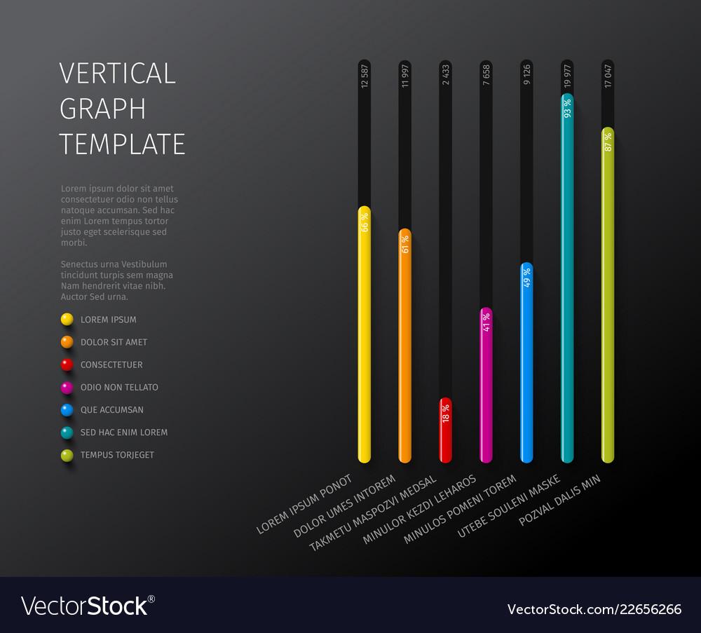 Column vertical graph template
