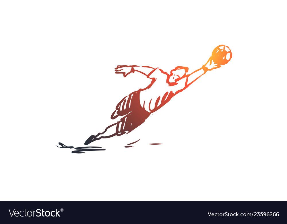 Goalkeeper football game player team concept
