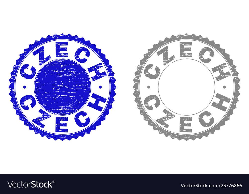 Grunge czech scratched watermarks