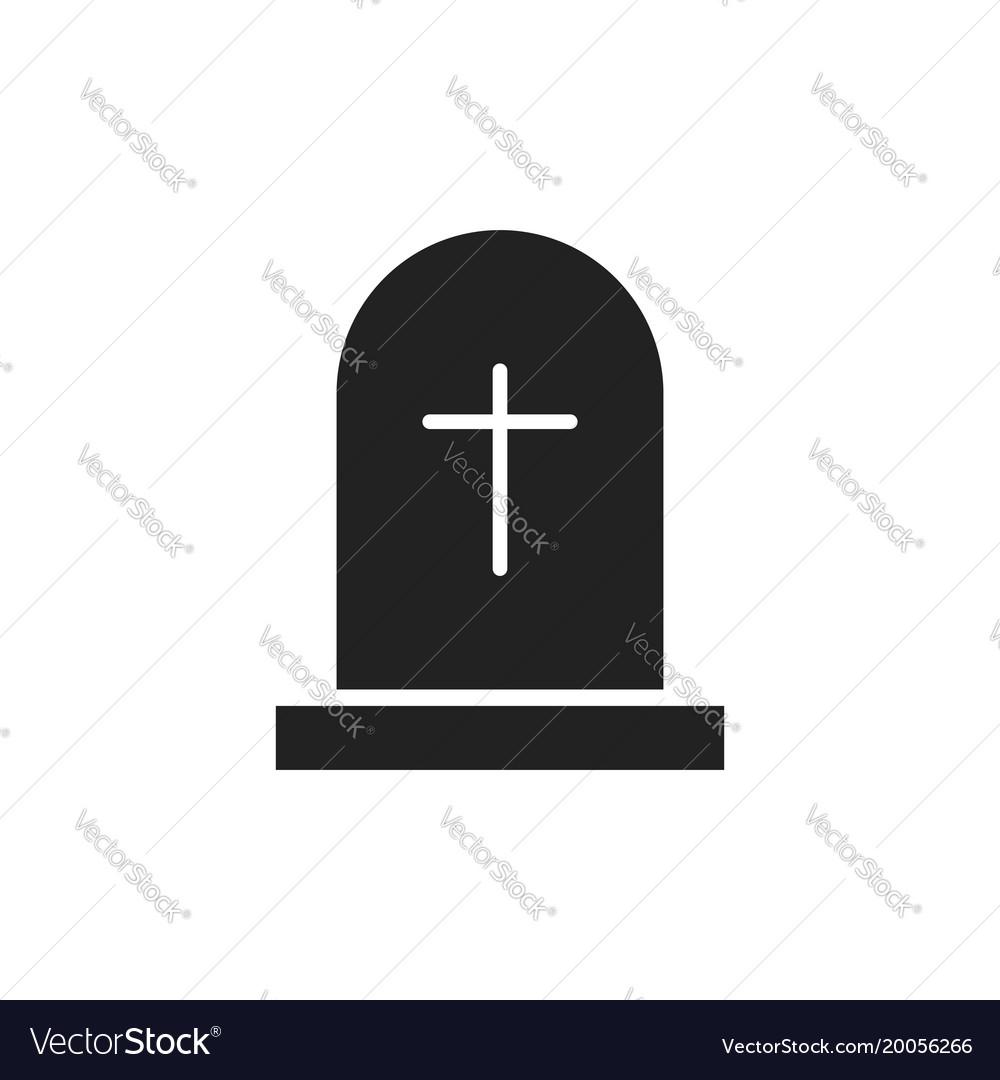 halloween grave icon gravestone rip tombstone vector image rh vectorstock com tombstone vector graphics tombstone vector free download