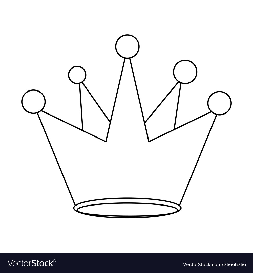 King Crown Royal Luxury Cartoon In Black And White Crown, crown, happy birthday vector images, royal crown png. vectorstock