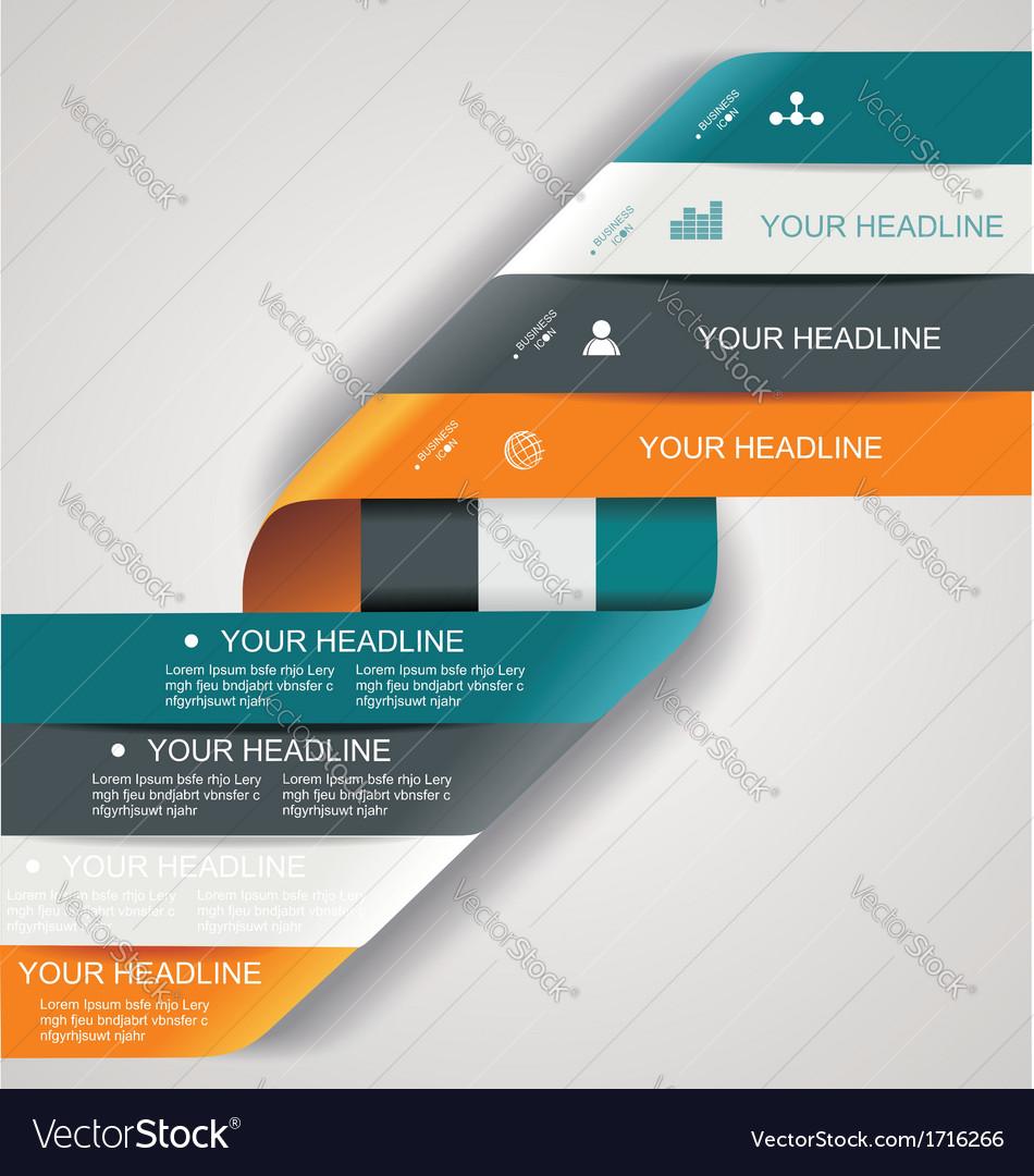 Modern spiral infographics options banner