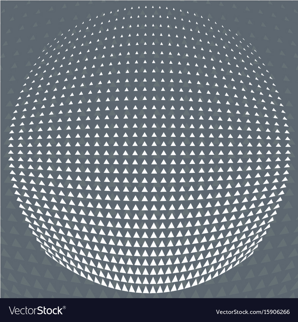 Pattern grey and white triangle halftone circle