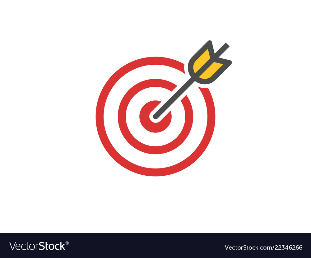 Red aim icon target and arrow ...