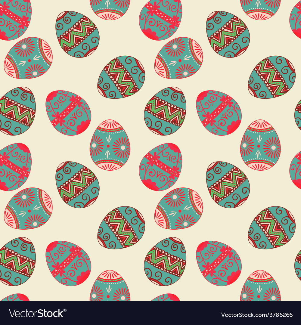 Seamless Easter eggs pattern Elegant