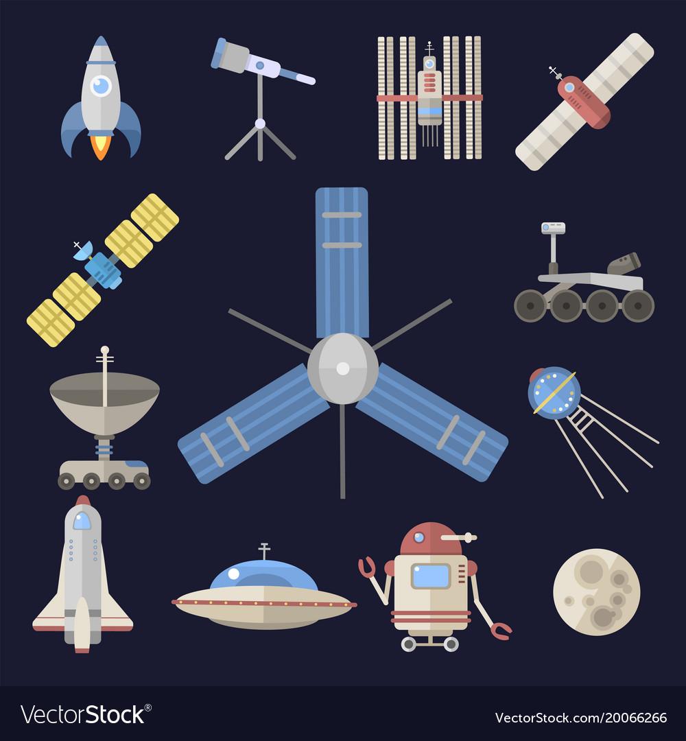 Stylish space ship constellation astrology radar