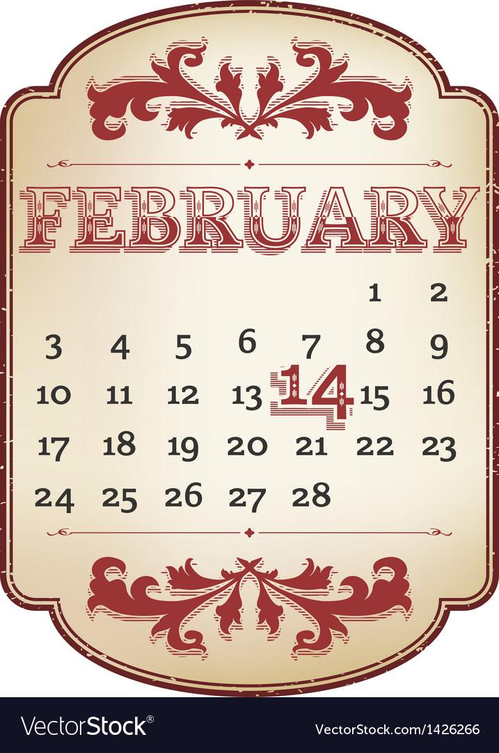 Valentines calendar
