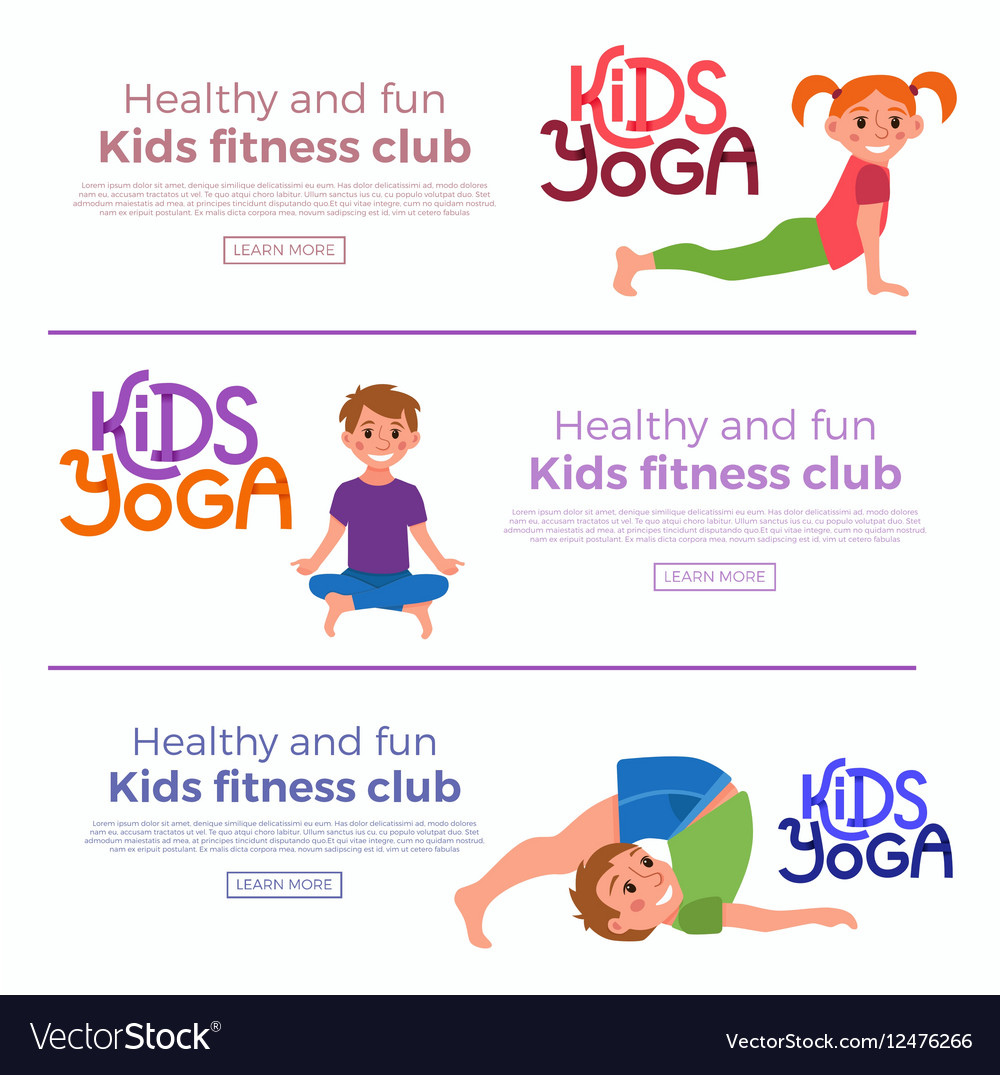 Yoga Kids Poses Royalty Free Vector Image Vectorstock