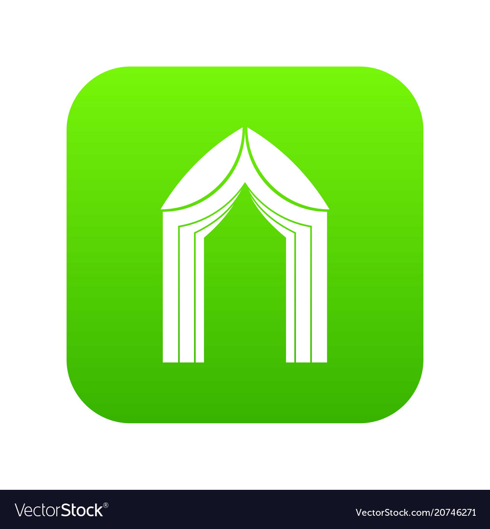 Arch icon digital green