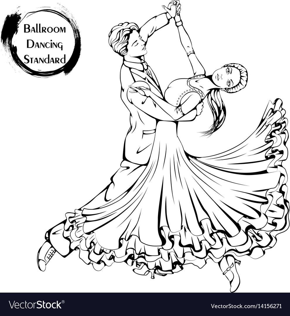 рисунок бальные танцы карандашом официально считается первым