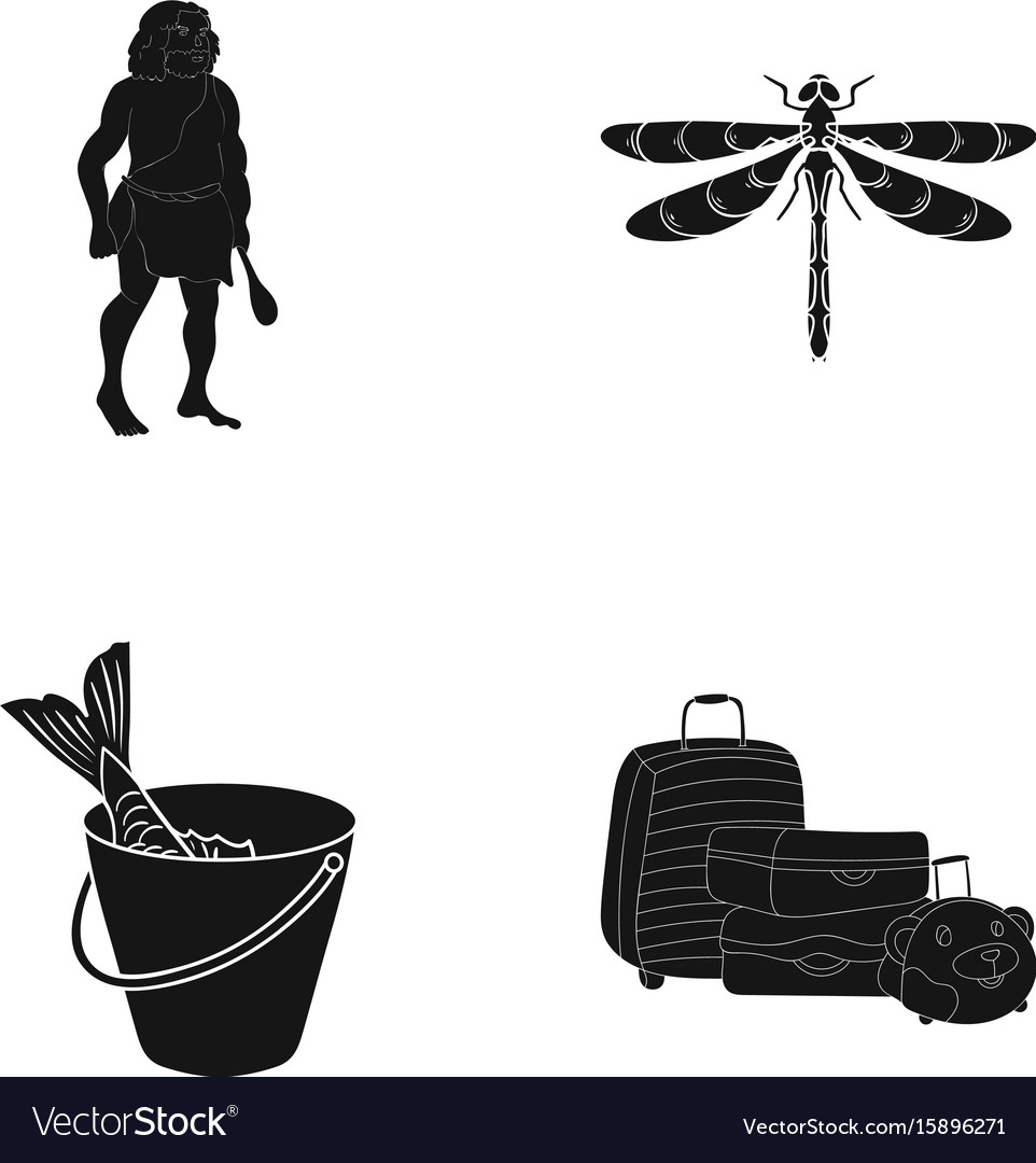 Fish fishing delicacyand other web icon in black