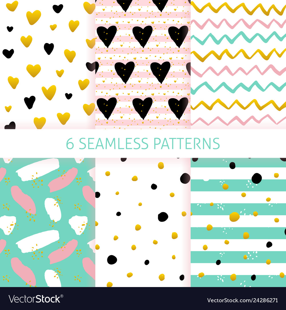 Mothers day trendy seamless patterns