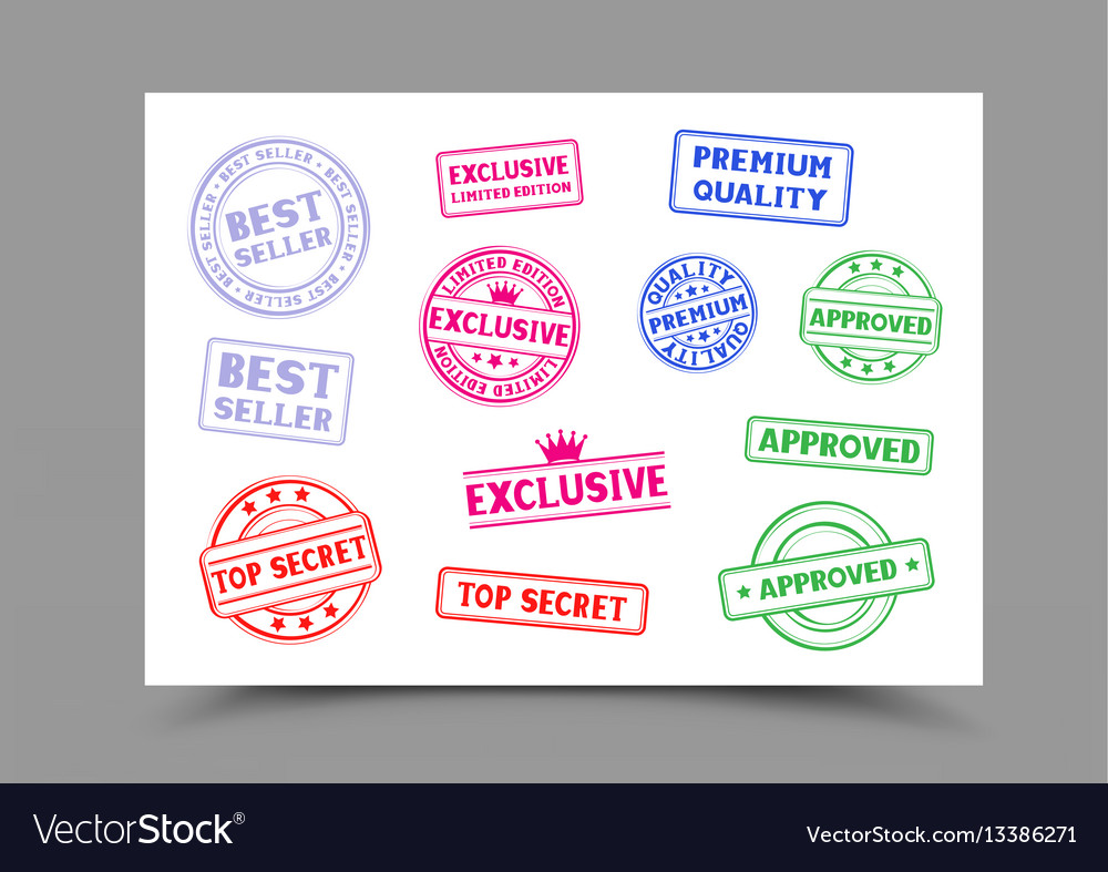 Stamps on a4 paper vector image