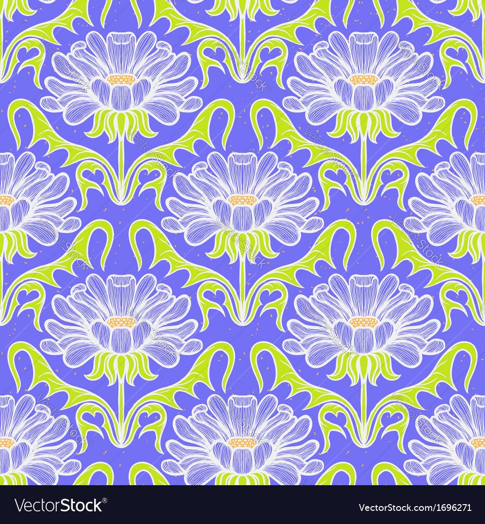 Vintage floral damask pattern