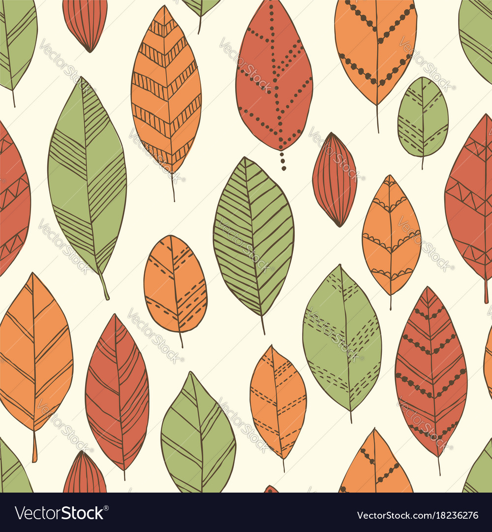 Beautiful seamless doodle pattern with vintage