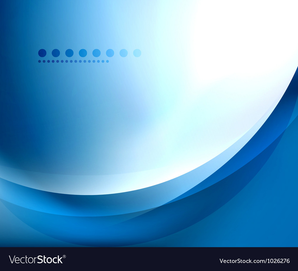 Blue smooth wave template