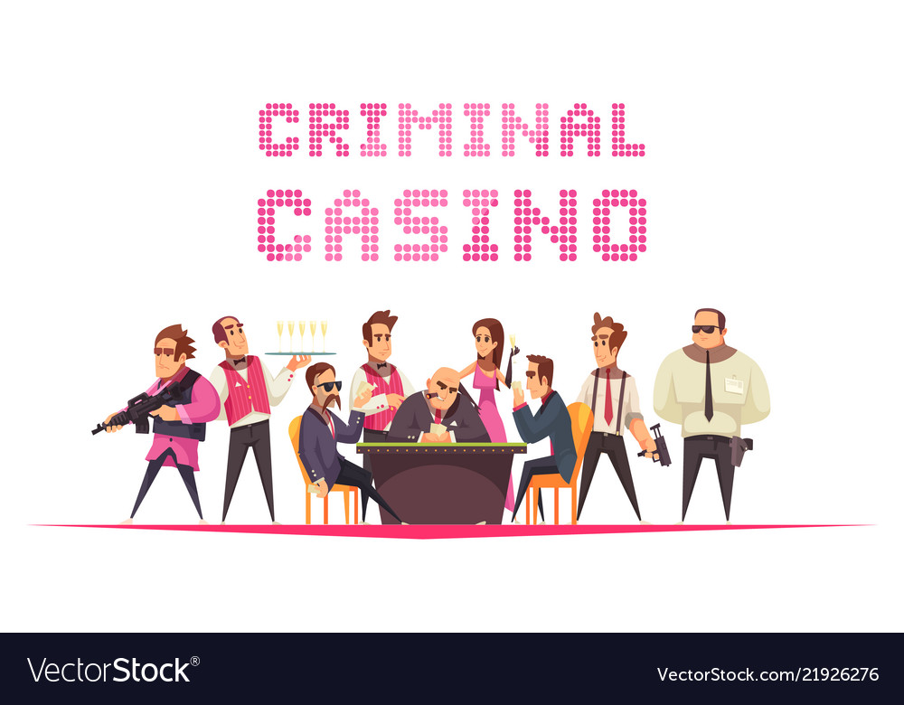 Criminal casino background composition