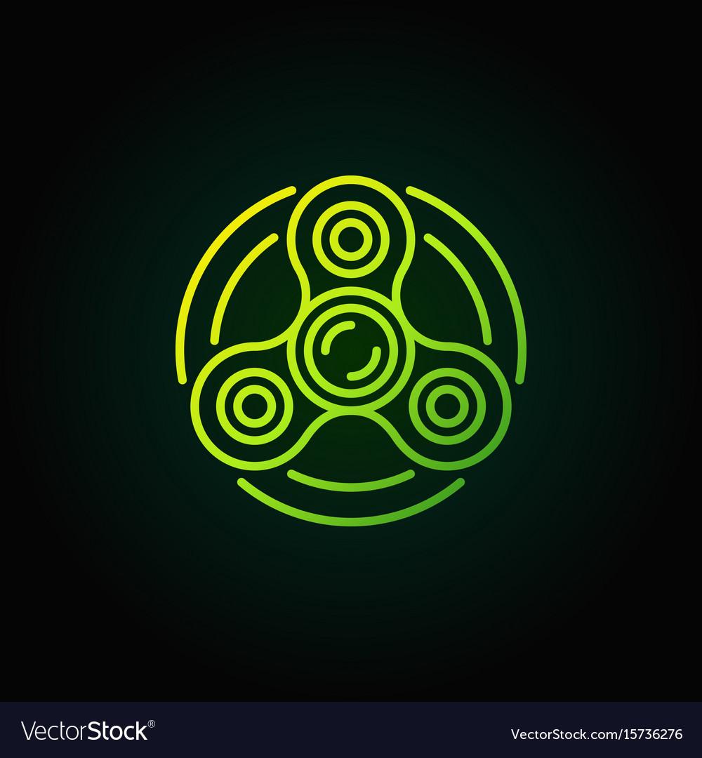 Fidget spinner green icon