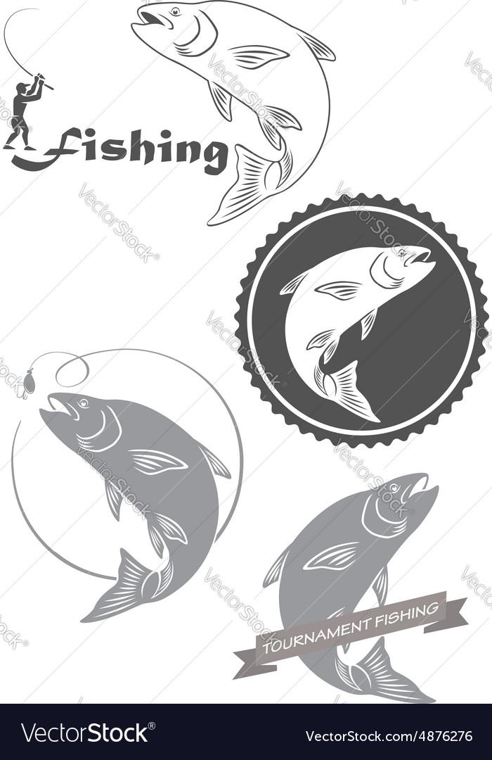 Fishing asp vector image