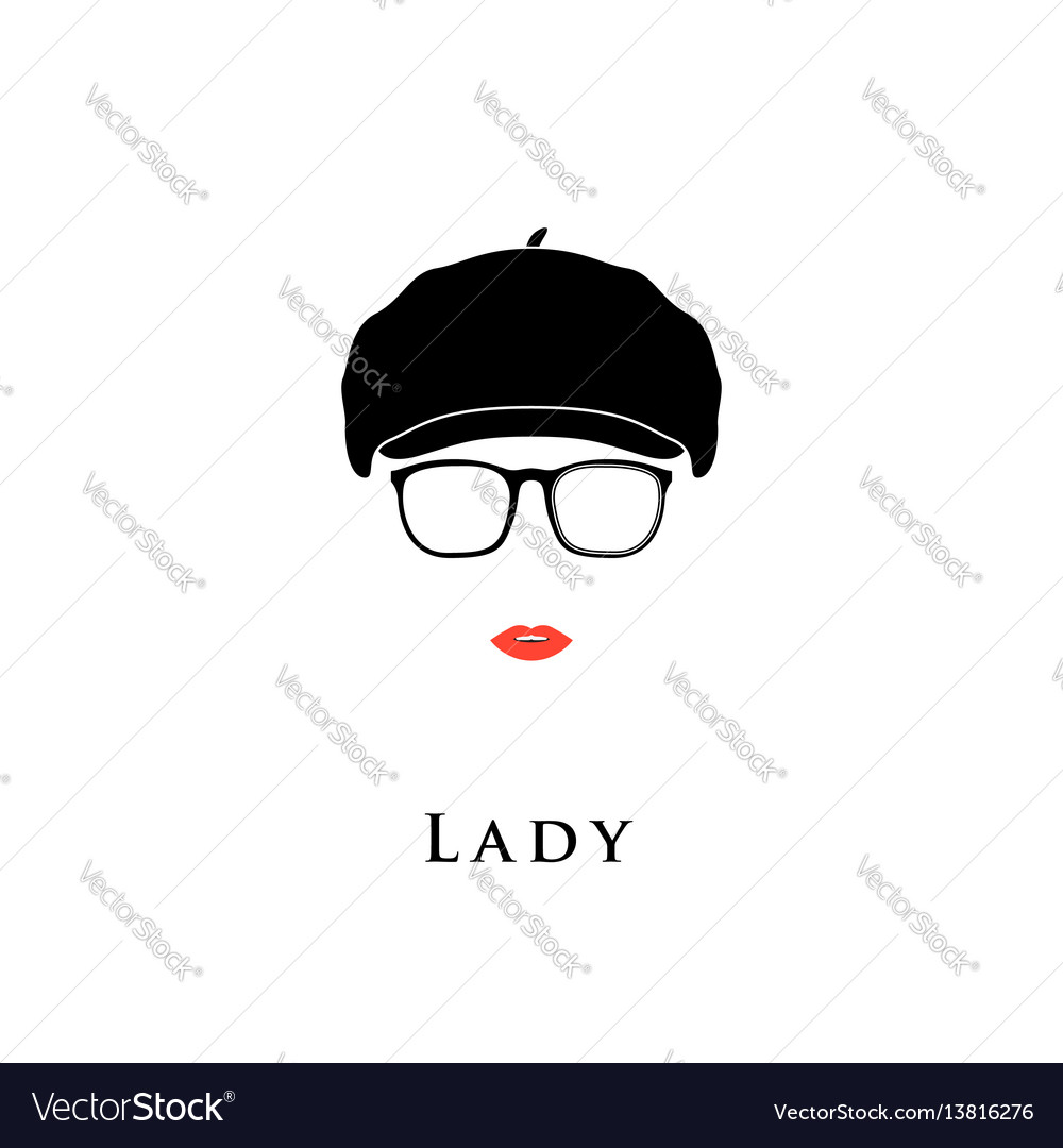 Lady in vintage beret vector image