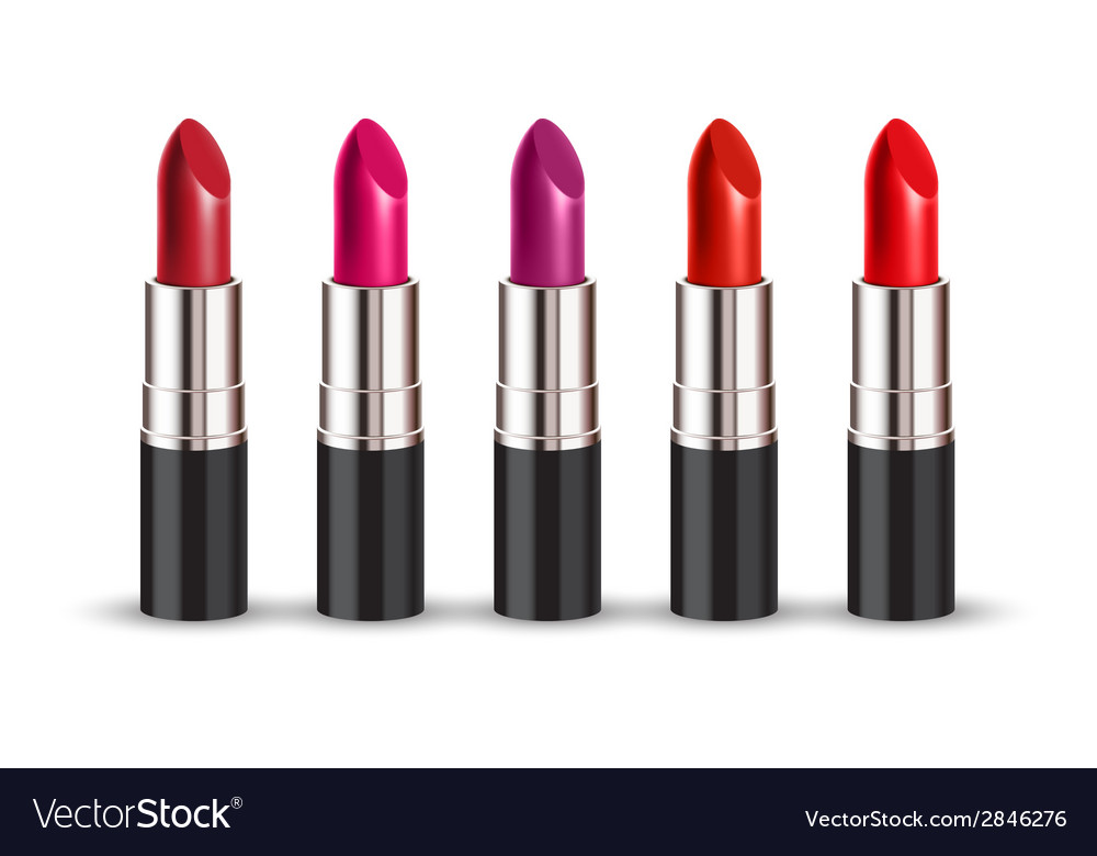 Lipstick set vector image