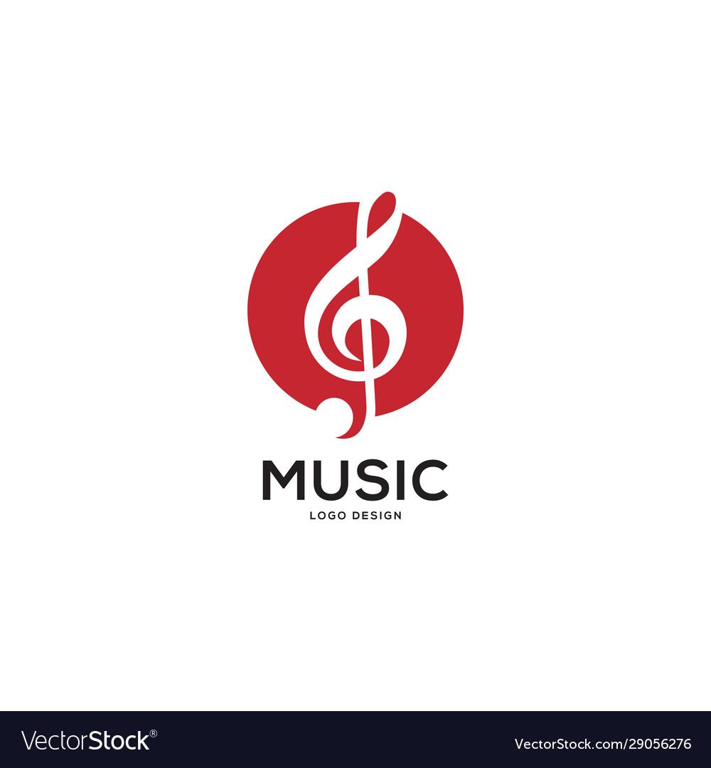 Music logo with circle