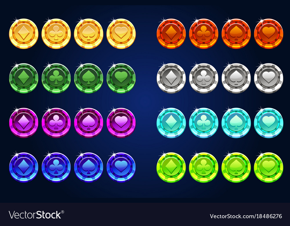 Poker colors chips resource gaming element