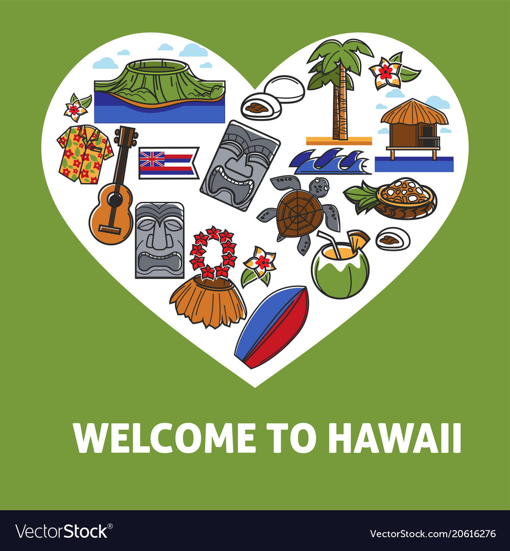 Welcome to hawaii promo banner with national