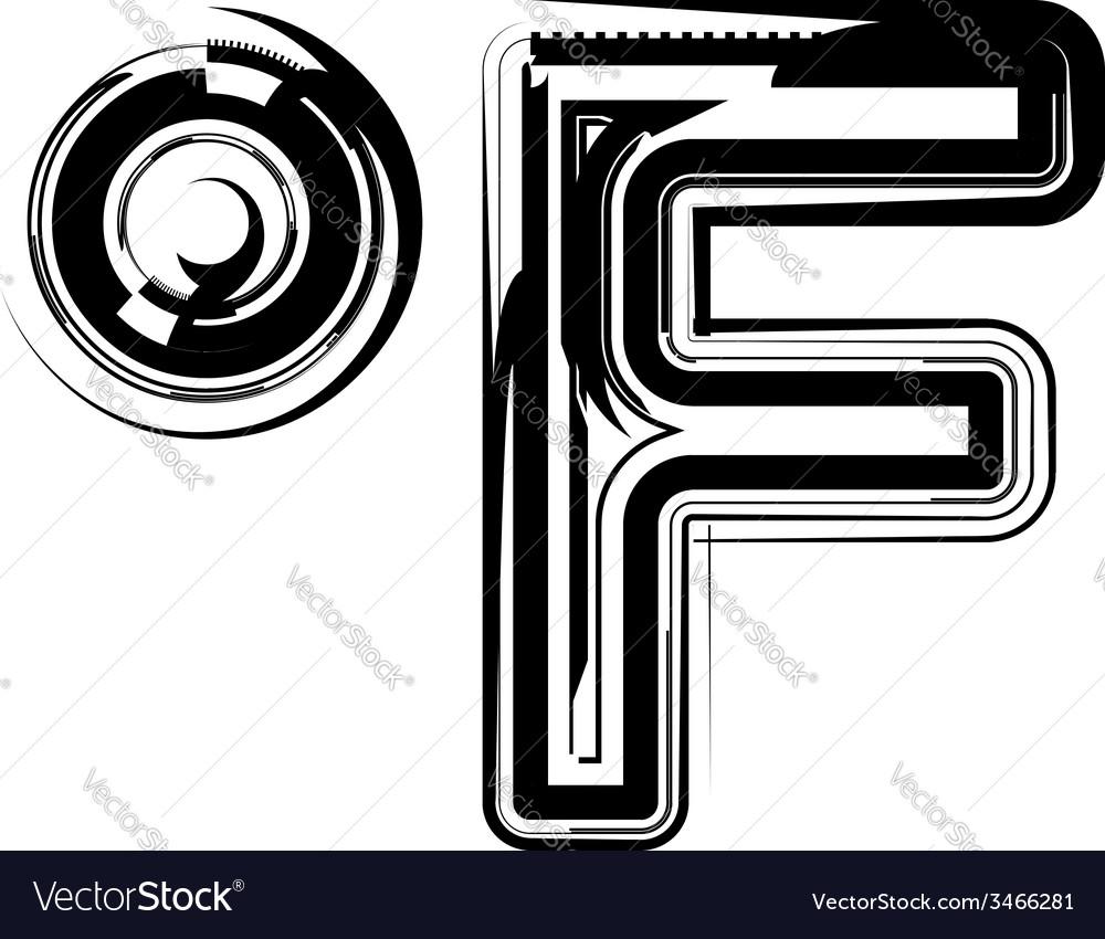 Abstract Fahrenheit Symbol vector image