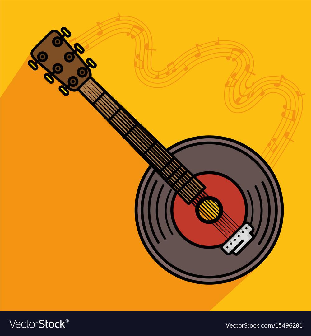 Banjo musical instrument icon