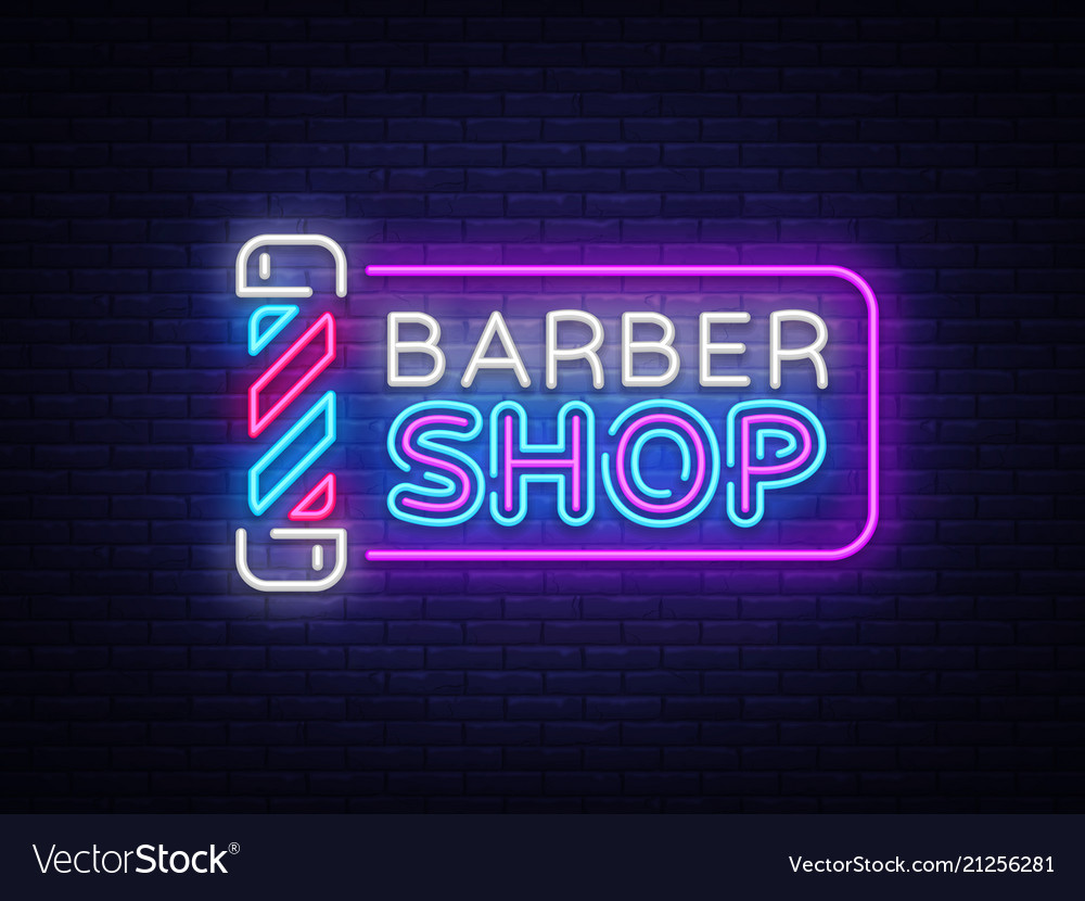 Barber shop sign design template barber