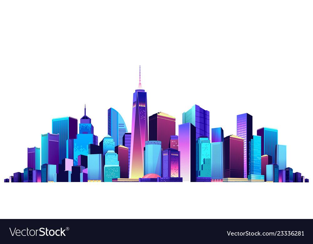 Cityscape on white background