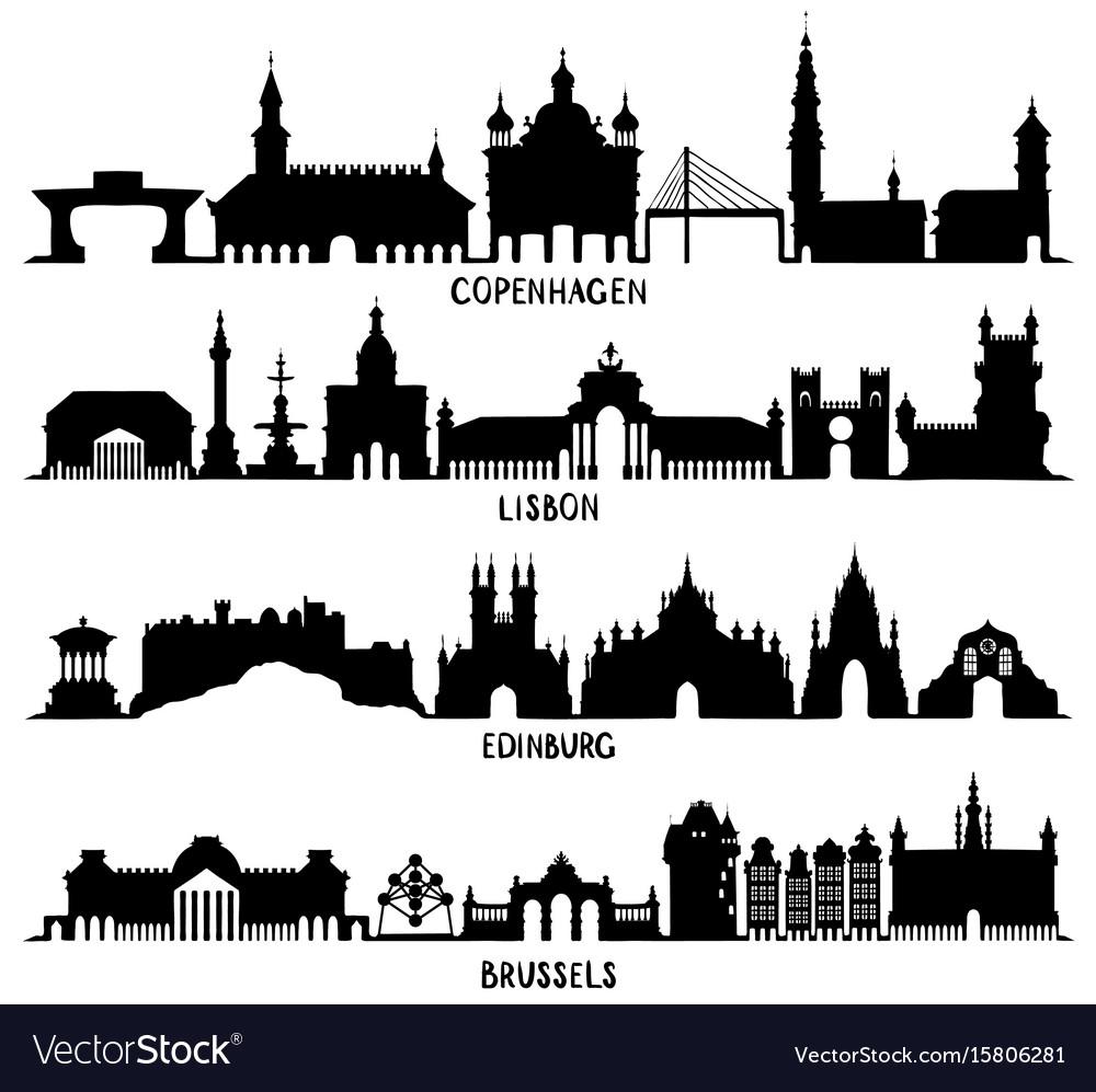 Copenhagen lisbon edinburgh and brussels
