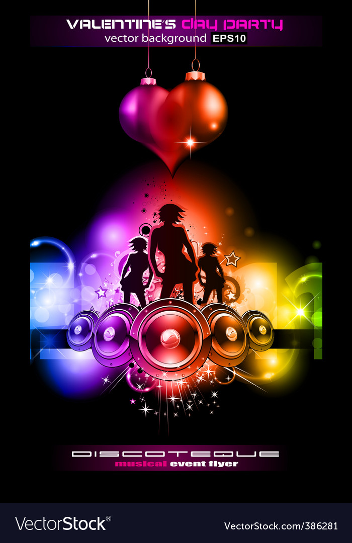 disco flyer royalty free vector image vectorstock