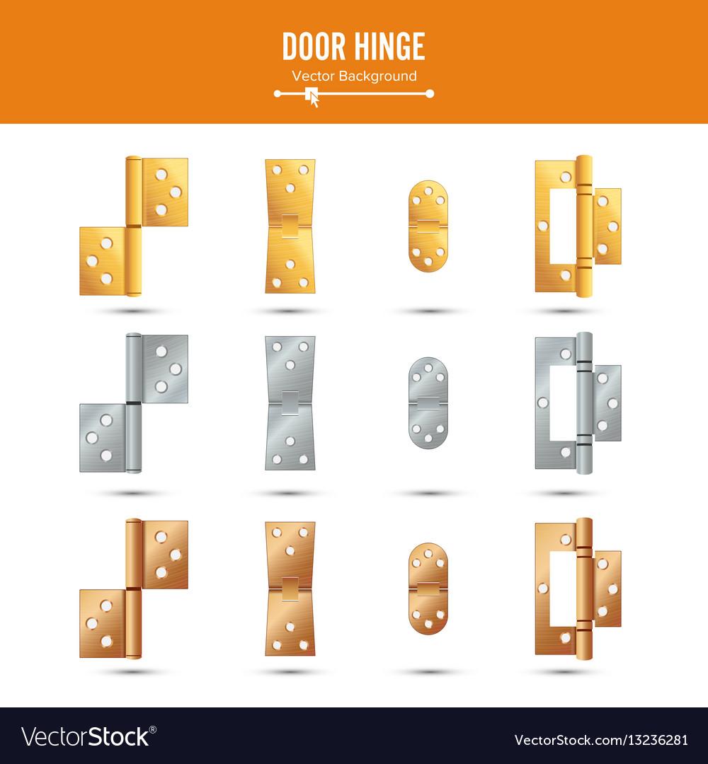 Door hinge set classic and industrial