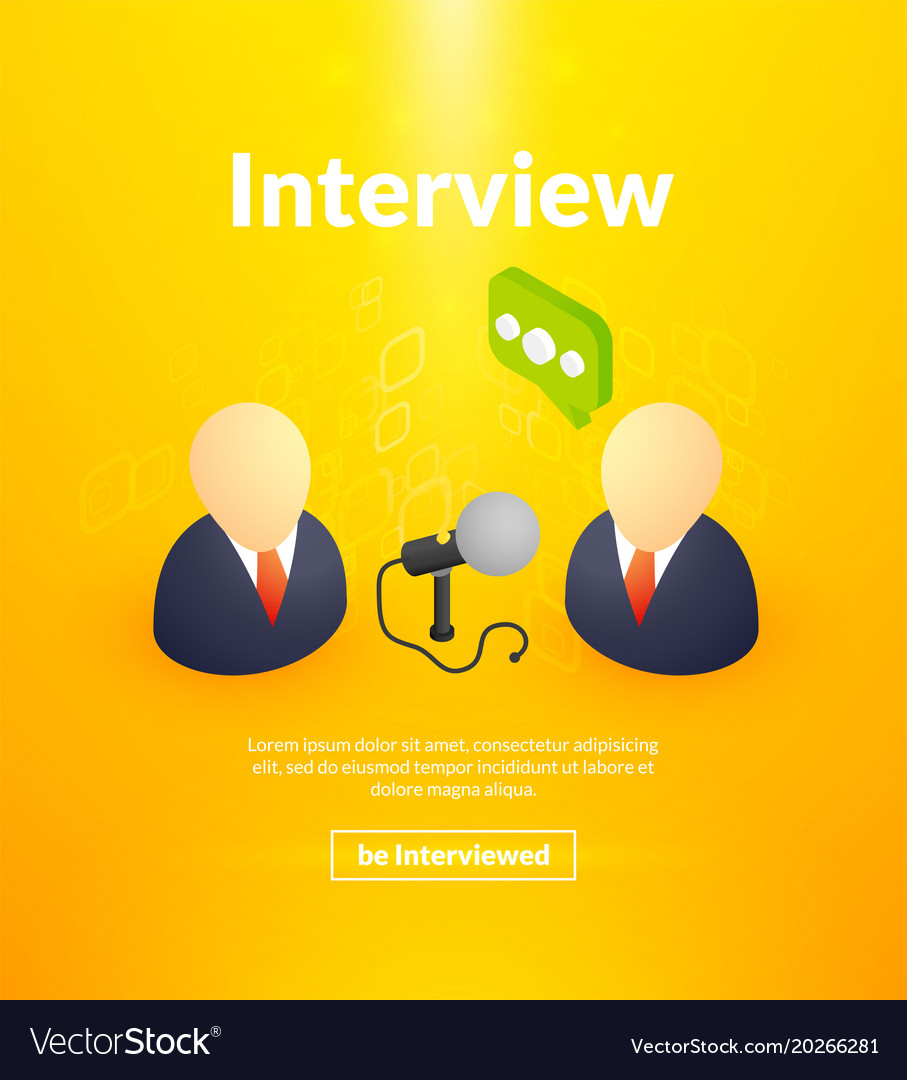Interview poster of isometric color design