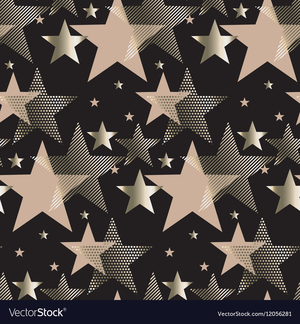Seamless triangle green and gold luxury pattern on