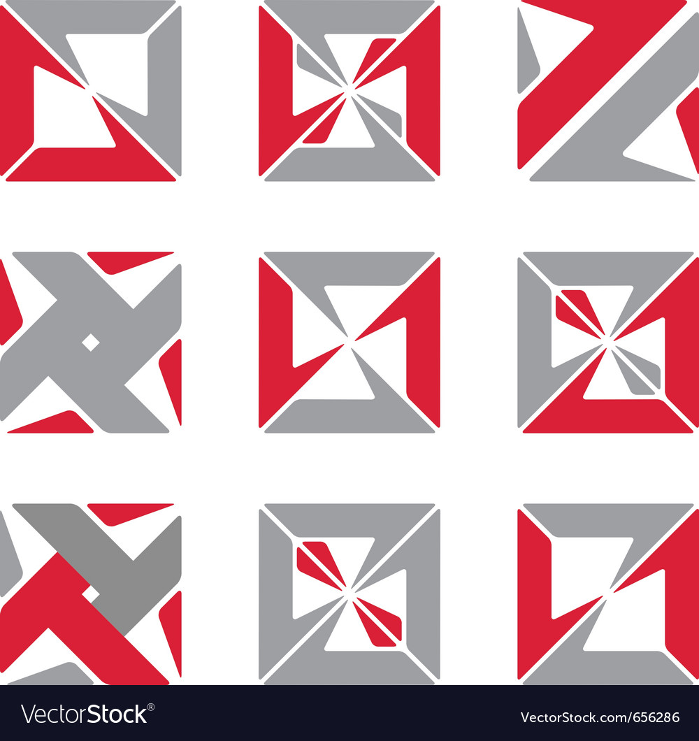 Abstract square symbols