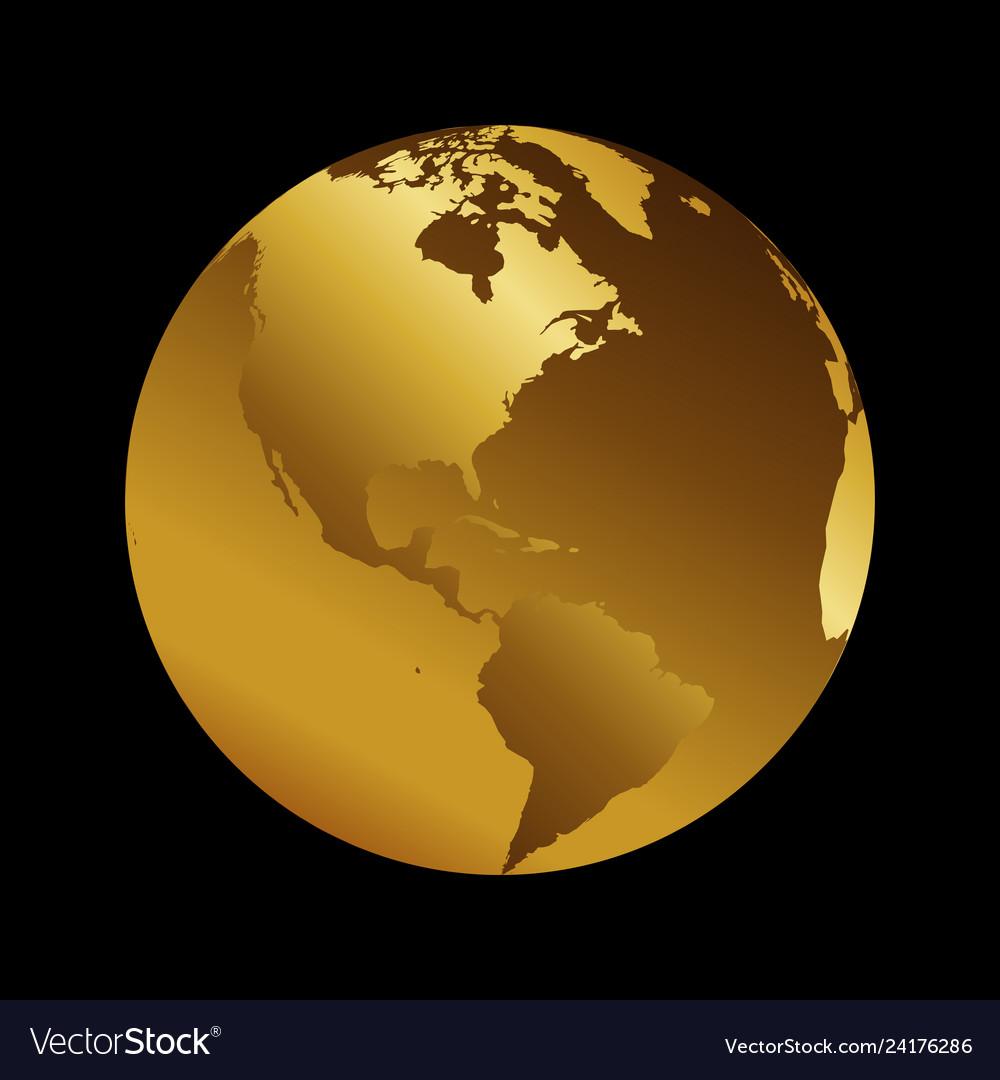 America golden planet backdrop view