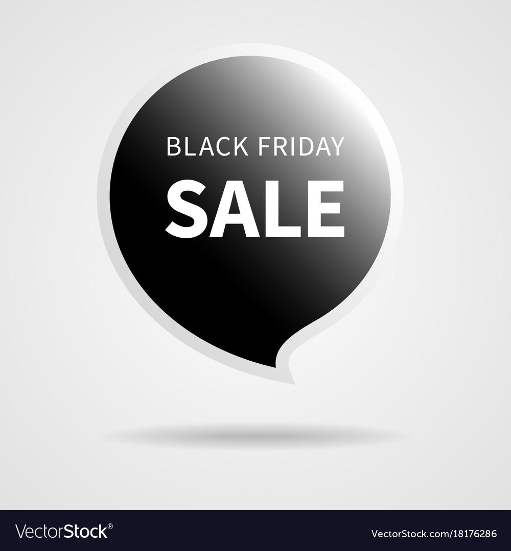 Black friday sale isolated black tag