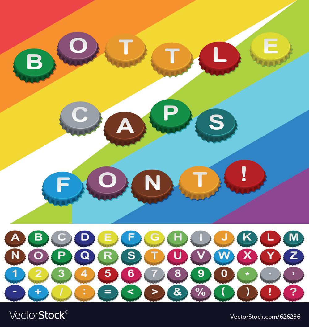 Bottle caps font