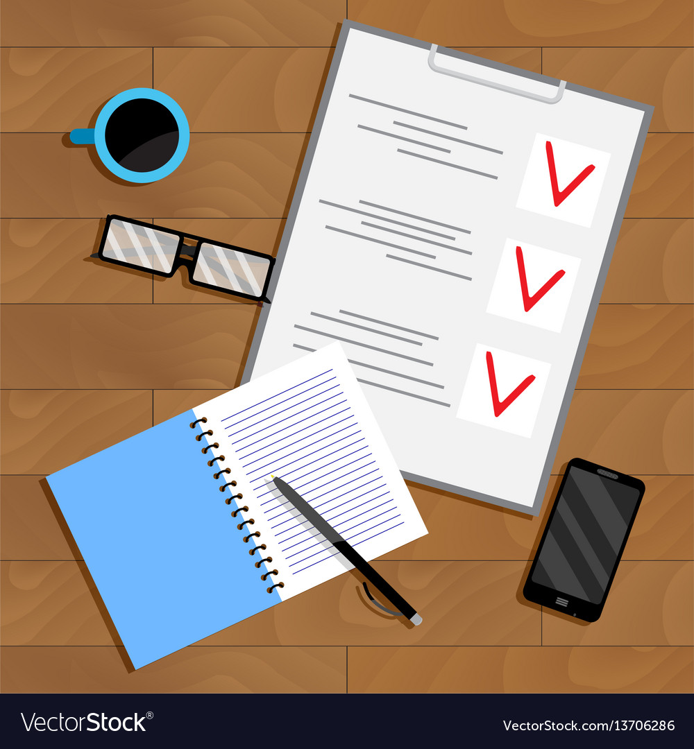 Business planning and organization paperwork vector image