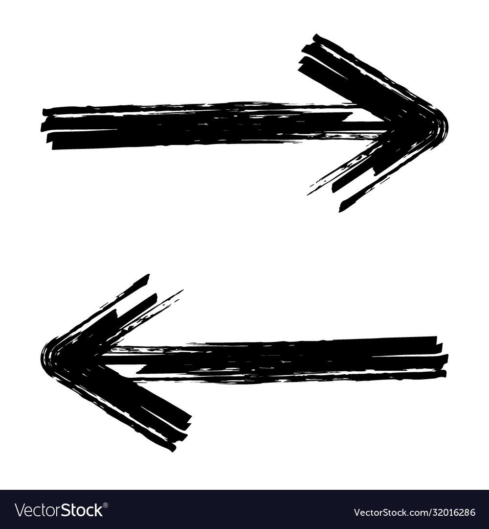 Hand drawn brush arrow