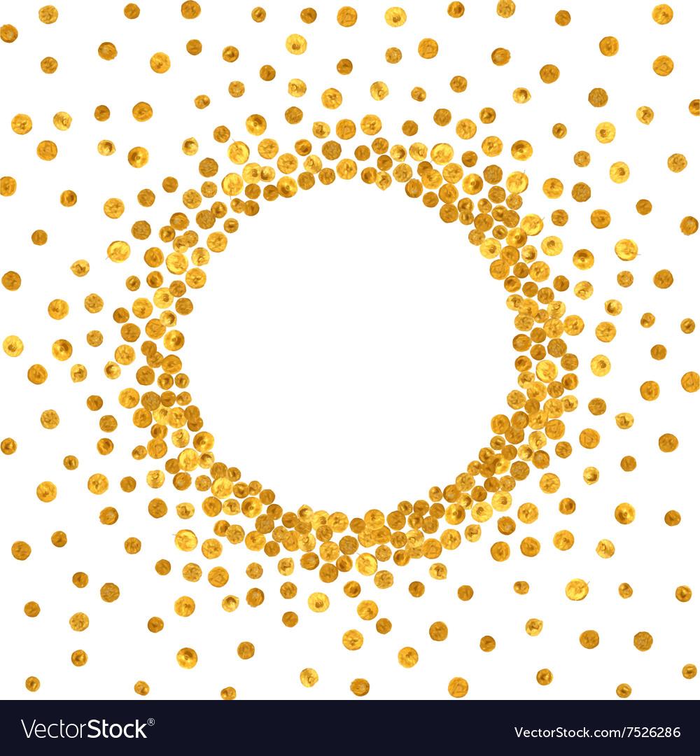 Round gold frame or border