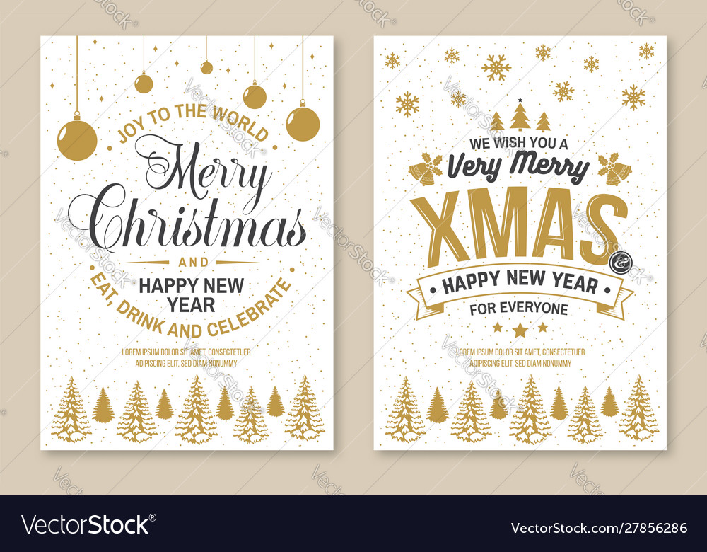 Set merry christmas and 2020 happy new year
