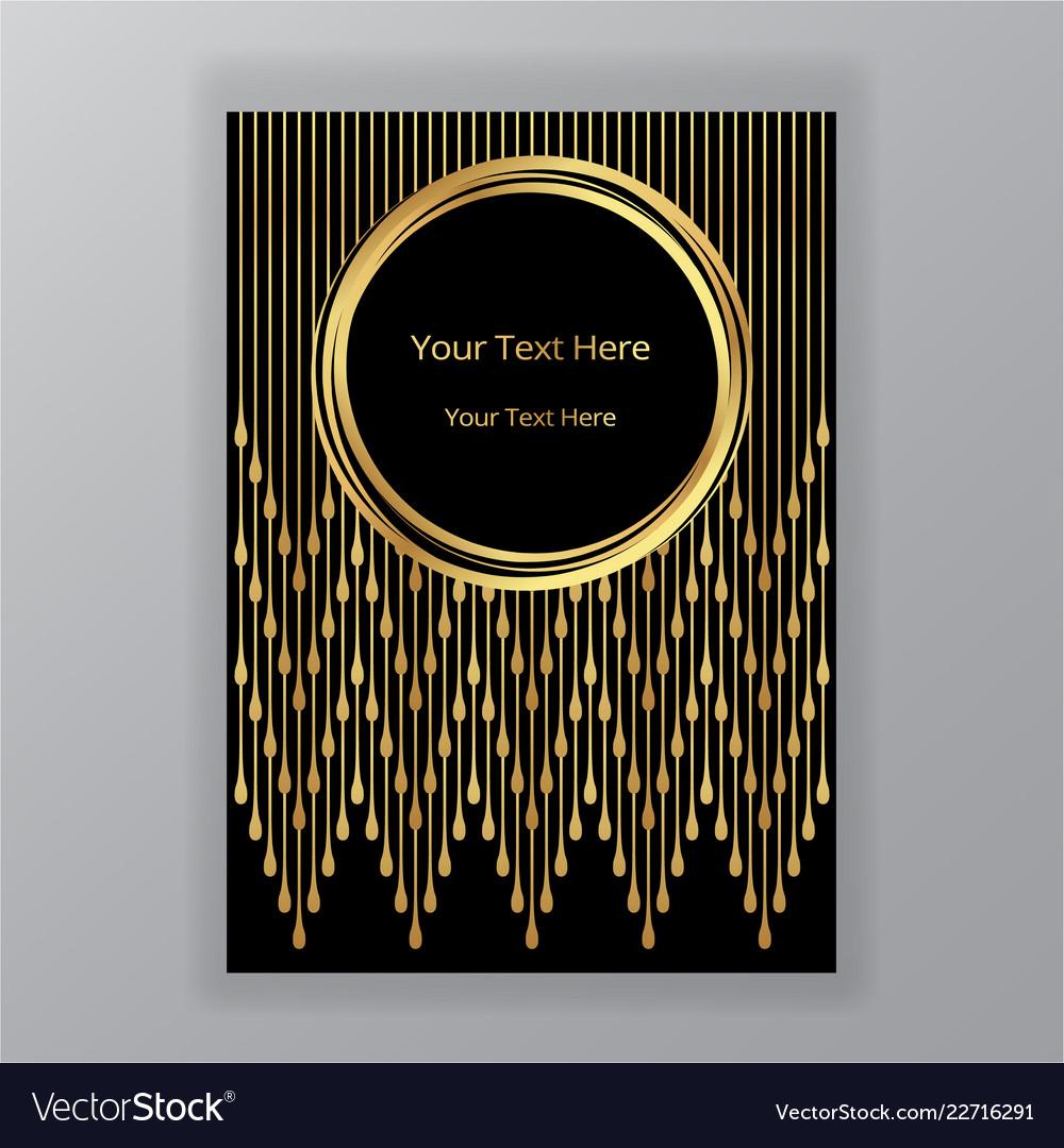 Abstract golden black circle luxury elegant
